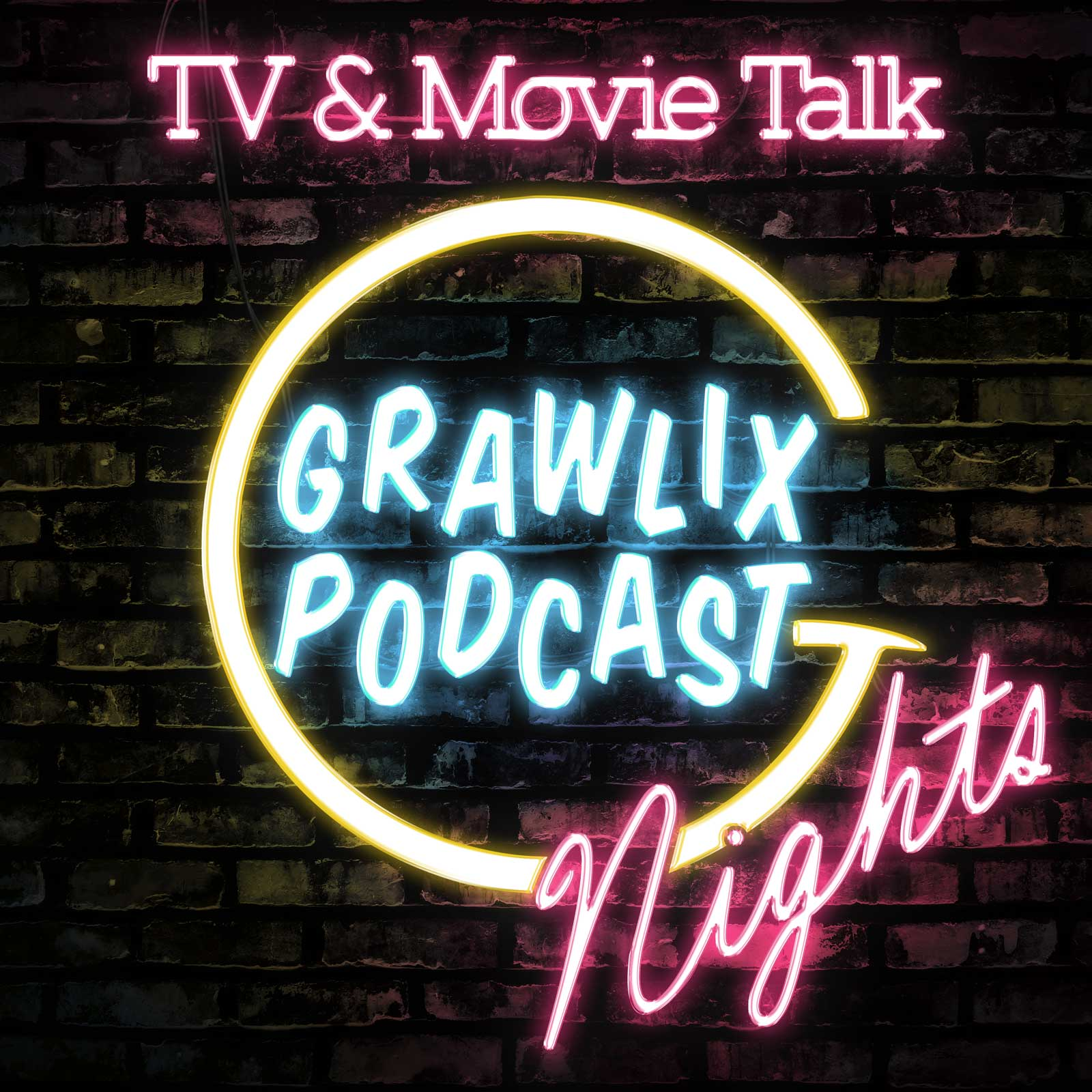 Grawlix Podcast Live Neon Logo